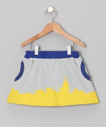 Stone & Blue Skirt - Toddler & Girls