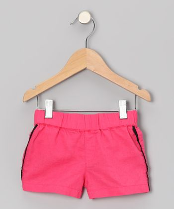 Peony Linen Piped Shorts - Toddler & Girls