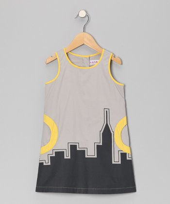 Stone Cityline Dress - Toddler & Girls