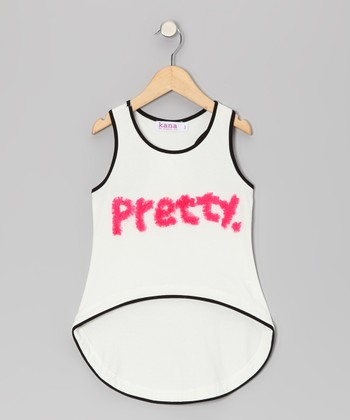 Peony 'Pretty' Racerback Hi-Low Tank - Toddler & Girls