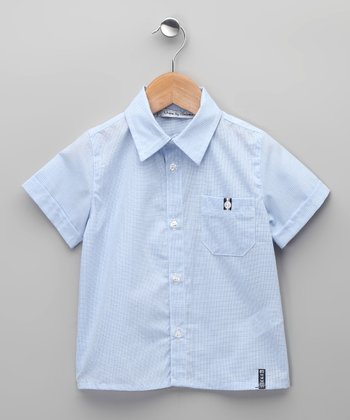 Azul Ballena Button-Up - Toddler & Boys