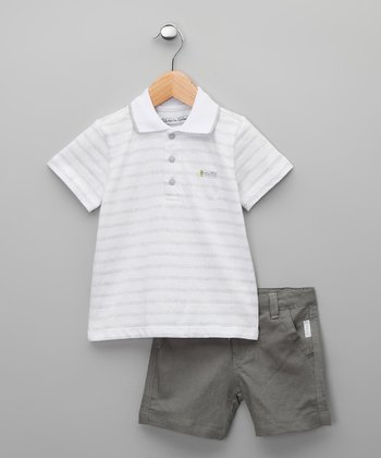 Gris Cucuta Polo & Shorts - Infant & Boys