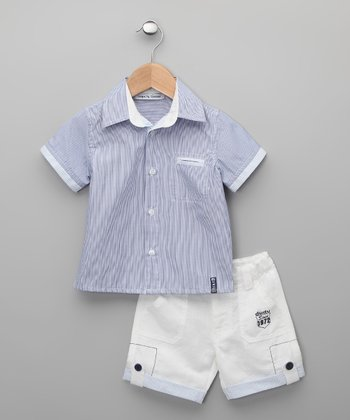 Blanco Curia Button-Up & Shorts - Infant, Toddler & Boys