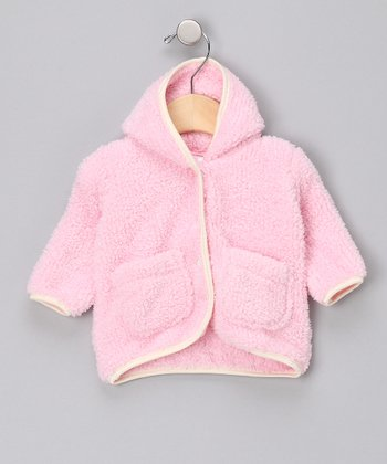 Pink Hooded Plush Jacket - Infant & Girls