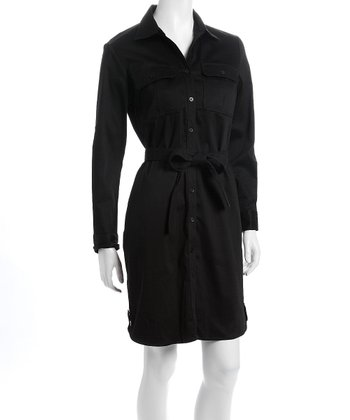 Black Audrey Nursing Shirt Dress