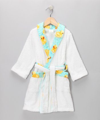 Aqua Bubble Duck Terry Robe - Toddler & Kids