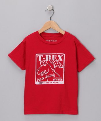 Red T-Rex Pizza Tee - Infant & Toddler