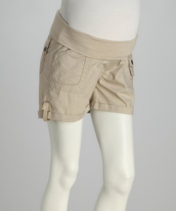 Stone Yoga-Belly Maternity Shorts
