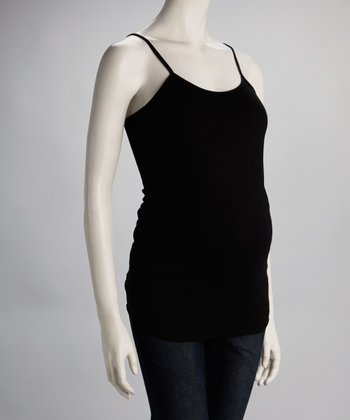 Black Ruched Maternity Camisole