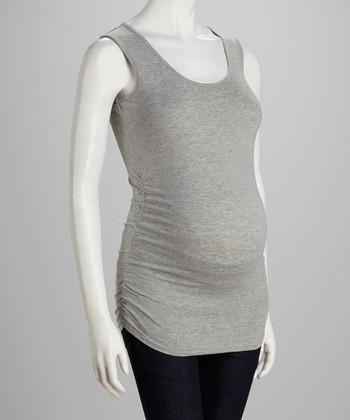 Oh! Mamma Gray Ruched Maternity Tank - Women