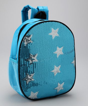 Blue Sequin Star Backpack