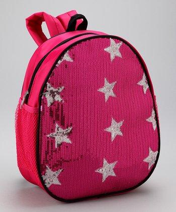 Bubblegum Diva Hot Pink Sequin Star Backpack