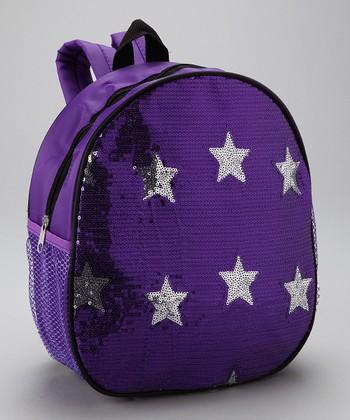 Bubblegum Diva Purple Sequin Star Backpack