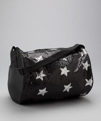 Bubblegum Diva Black Sequin Star Duffel Bag