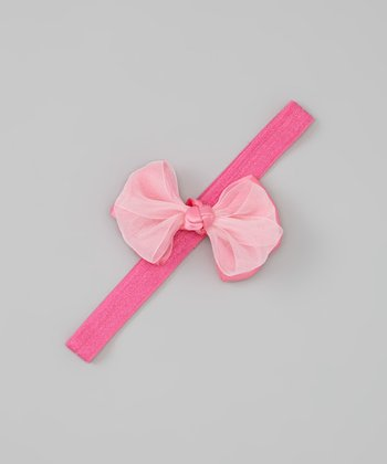 Bubblegum Satin Ribbon Bow Headband