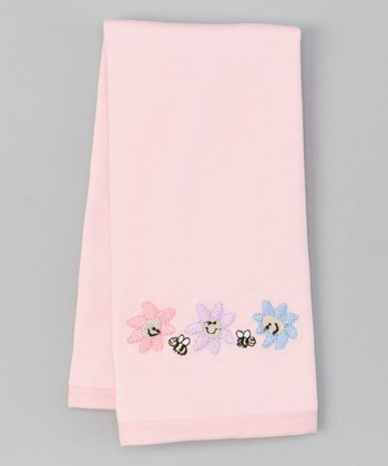 Pink Daisy Burp Cloth