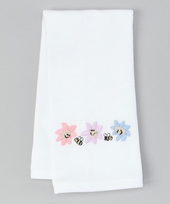 White Daisy Burp Cloth