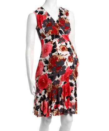 Sunset Floral Carmelita Bamboo Maternity & Nursing Dress