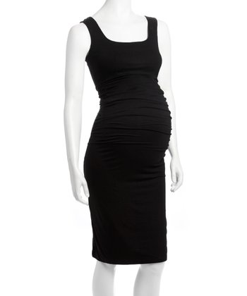 Black Vanna Maternity & Nursing Dress - Women