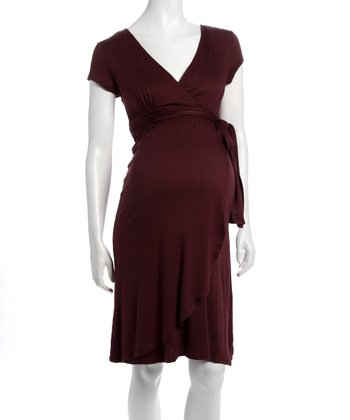 Port Wine Elena Maternity & Nursing Dress - Women