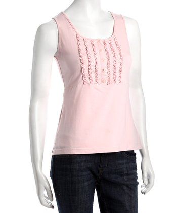 Blush Ruffle Nursing Tank