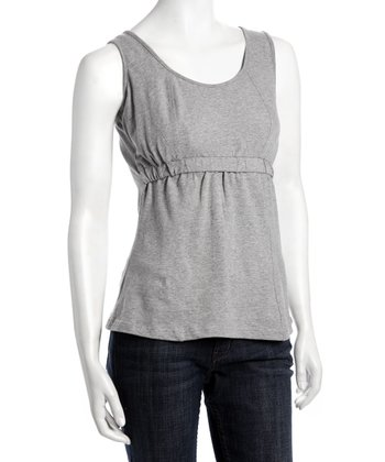 Heather Gray Sport Body Nursing Tank - Women