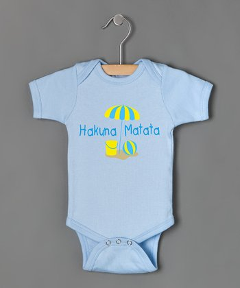 Light Blue 'Hakuna Matata' Bodysuit - Infant