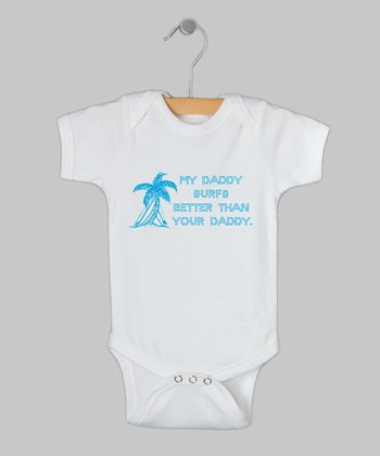 White 'Surfs' Bodysuit - Infant