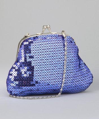 Blue Sequin Purse
