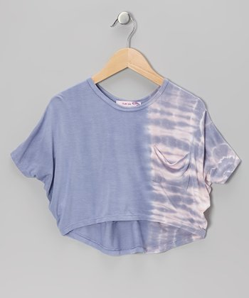 Purple Tie-Dye Braid Crop Top