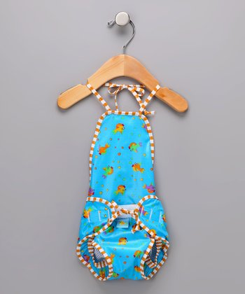 Light Blue Goldfish Halter Swim Diaper