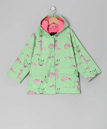 Green Happy Gator Raincoat - Infant, Toddler & Kids