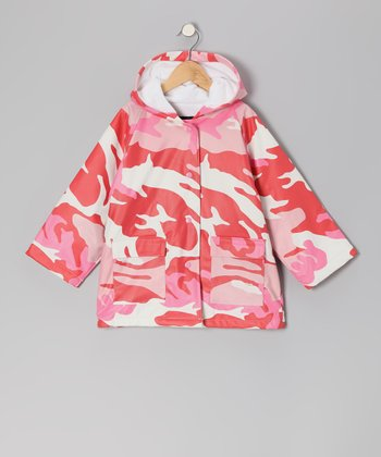 Pink Camo Raincoat - Kids