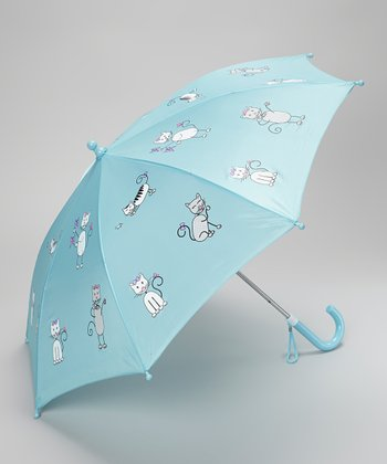 Angel Blue Kitten Umbrella