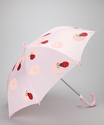 Light Pink Ladybug Umbrella