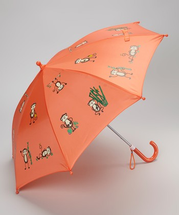 Coral Monkey Umbrella