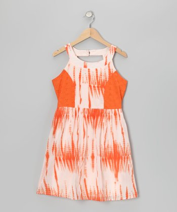 Orange Dip-Dye Dress