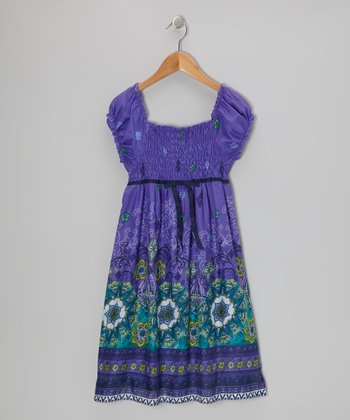 Purple & Navy Mystical Star Dress