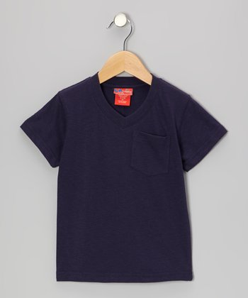 Dark Navy V-Neck Tee - Toddler & Boys