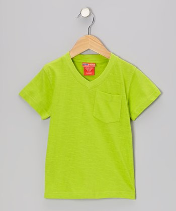 Lime V-Neck Tee - Toddler & Boys