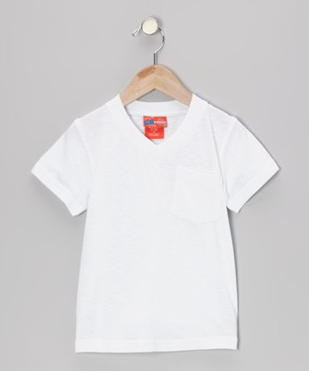 White V-Neck Tee - Infant, Toddler & Boys