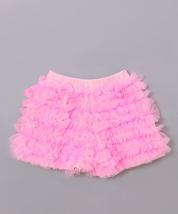 Pink Ruffle Tutu Shorts - Toddler