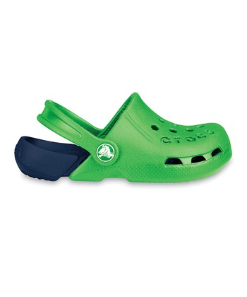 Crocs Lime & Navy Electro Clog