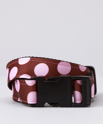 Brown & Pink Polka Dot Belt