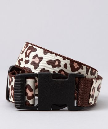 Beige & Brown Leopard Belt