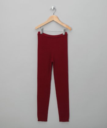 Burgundy George Leggings - Infant & Girls