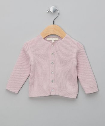 Powder Rose Gerhard Merino Cardigan - Infant