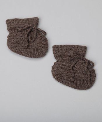 Cocoa Wool Booties