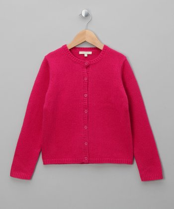Cherry Lip Andrea Merino Cardigan - Girls
