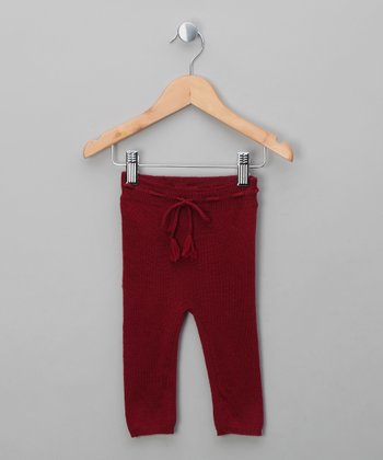 Burgundy Dagmar Wool Leggings - Infant